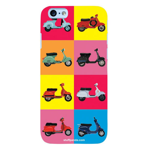 Designer Cool funky Ethnic Scooter hard back cover / case for Iphone 6