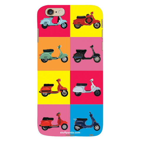 Designer Cool funky Ethnic Scooter hard back cover / case for Iphone 6 plus
