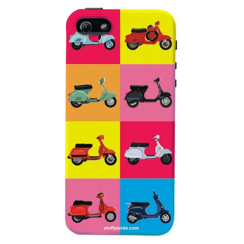 Designer Cool funky Ethnic Scooter hard back cover / case for Iphone 5 / 5s