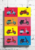 Cool Funky Retro vintage scooters wall posters, art prints, stickers decals - stuffpanda - 1