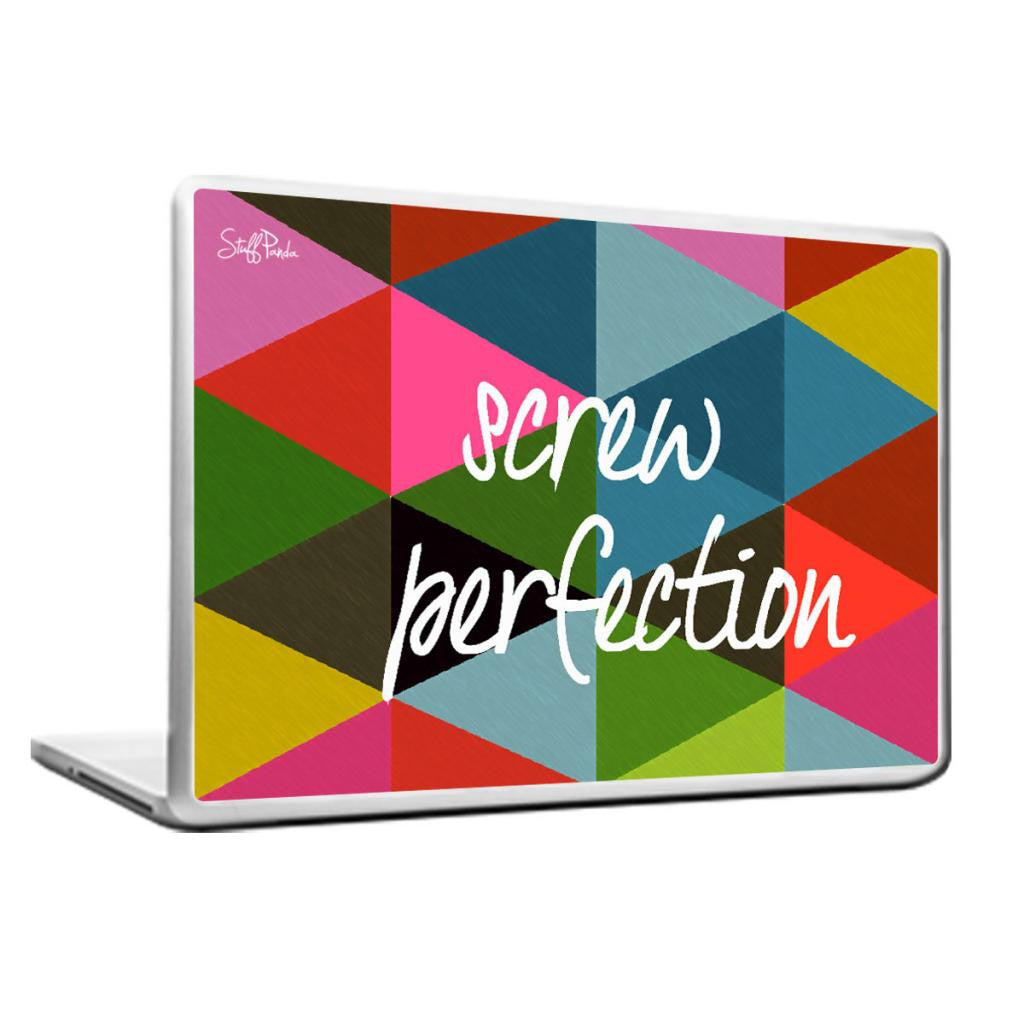 Cool Abstract Motivation Screw perfection Laptop cover skin vinyl decals - stuffpanda - 1