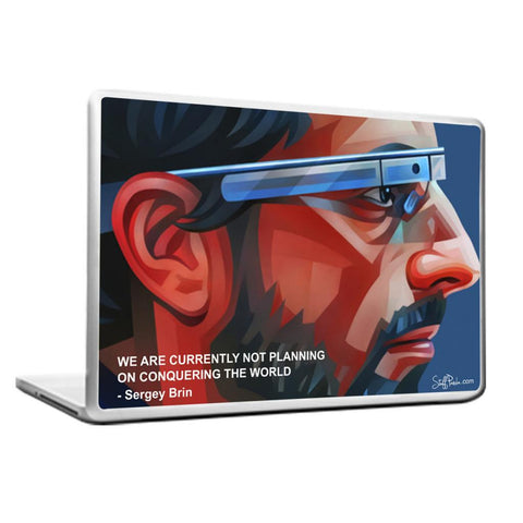 Cool Abstract Motivation Google Sergey Brin Laptop cover skin vinyl decals