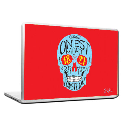 Cool Abstract Devil Skull Red Laptop cover skin vinyl decals - stuffpanda - 1