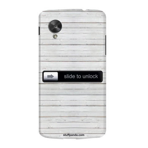 Designer Cool funky Slide To Unlock hard back cover / case for Nexus 5