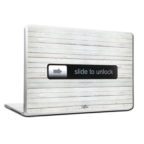 Cool Funky Apple Steve jobs Slide to Unlock Laptop skin vinyl decals