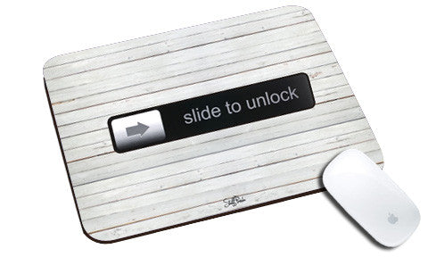 Cool design Apple Steve jobs Slide to Unlock natural rubber mouse pad