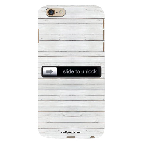 Designer Cool funky Slide To Unlock hard back cover / case for Iphone 6 plus