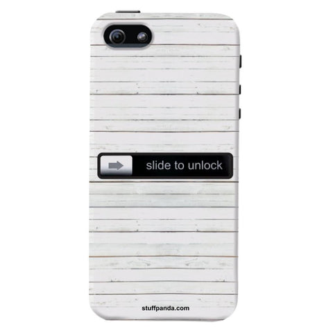 Designer Cool funky Slide To Unlock hard back cover / case for Iphone 5 / 5s