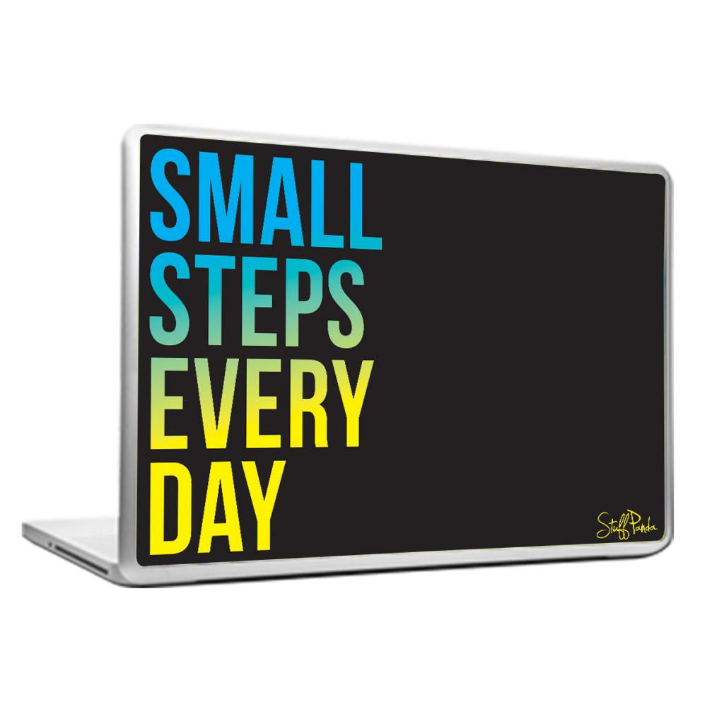 Cool Abstract Motivation Small Steps Laptop cover skin vinyl decals - stuffpanda - 1