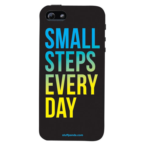 Designer Motivational Small Steps Every Day hard back cover / case for Iphone 5 / 5s