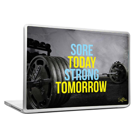 Cool Abstract Motivation Gym workout Sore today Laptop cover skin vinyl decals