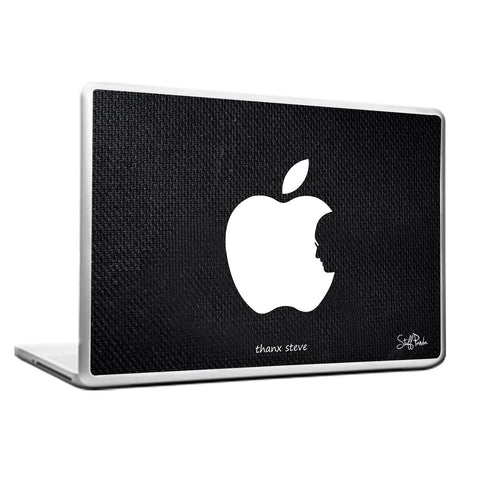 Cool Funky Apple Steve jobs face Laptop skin vinyl decals