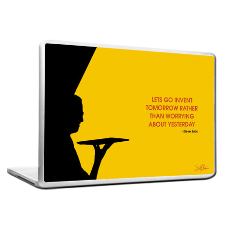 Cool Motivation Apple Steve Lets go invent Laptop cover skin vinyl decals