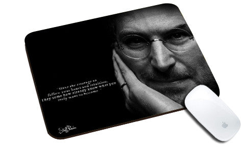 Cool design Apple Steve jobs Quote Have Courage natural rubber mouse pad