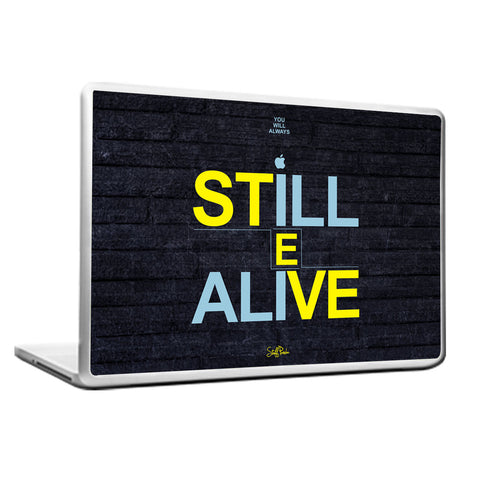 Cool Funky Apple Steve jobs Still Alive Laptop skin vinyl decals