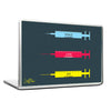 Cool Abstract Motivation Love Syringes Laptop cover skin vinyl decals - stuffpanda - 1
