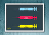 Cool Abstract Motivation Love Syringes Glass frame posters Wall art - stuffpanda - 1