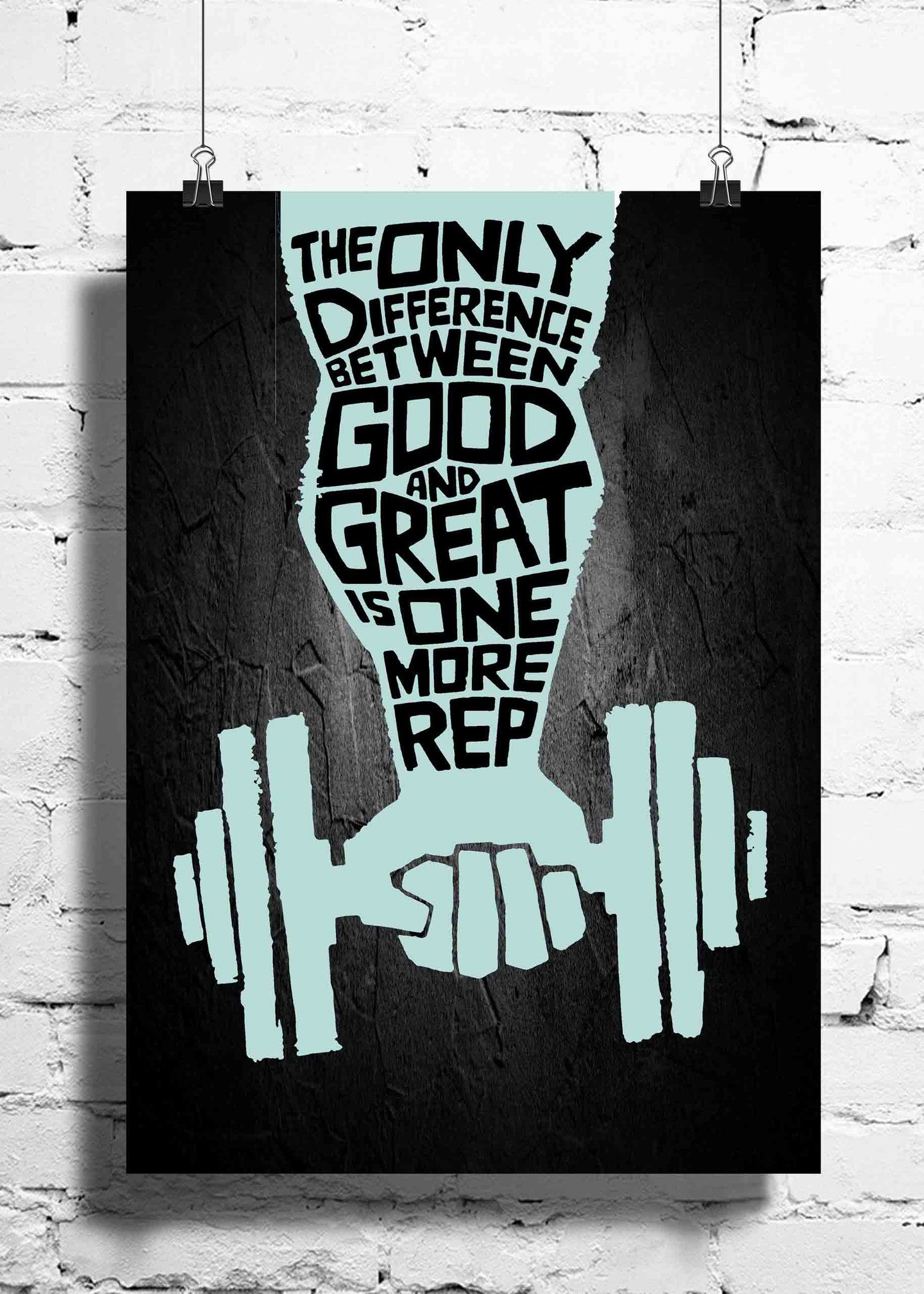 gym workout motivation the only difference wall posters. Black Bedroom Furniture Sets. Home Design Ideas