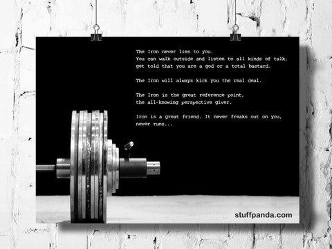 Cool Abstract Gym workout Motivation Iron never lies wall posters, art prints, stickers decals