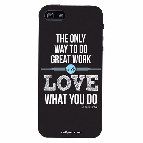 Designer Cool The Only Way To Love hard back cover / case for Iphone 5 / 5s