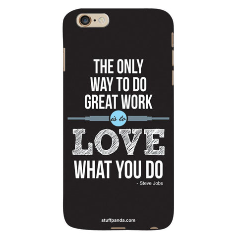 Designer Motivational Wake Up hard back cover / case for Iphone 6 plus