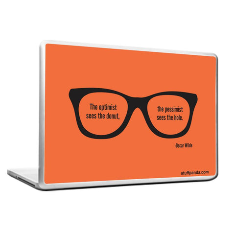 Motivation The Optimist Sees Laptop cover skin vinyl decals