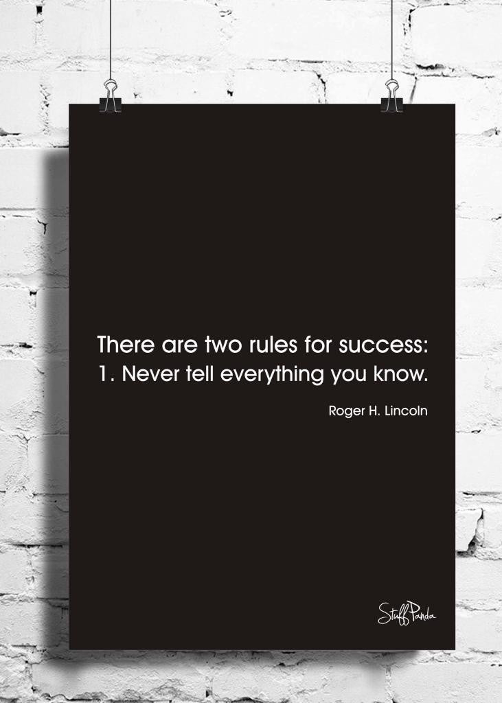 Cool Abstract Motivation There are Two rules wall posters, art prints, stickers decals - stuffpanda - 1
