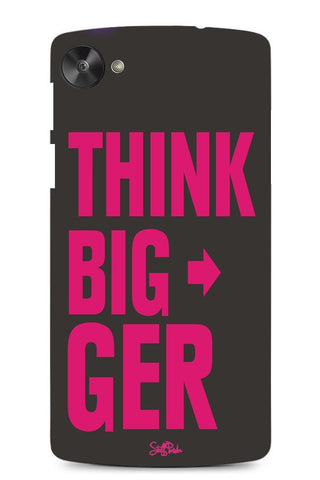 Cool design Motivational Think Bigger mobile back cover / mobile case for Xiaomi MI3