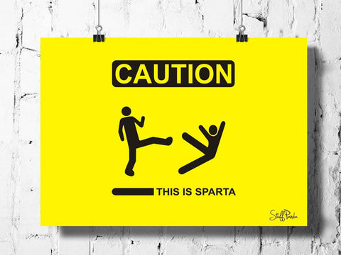 Cool Abstract funkyThis is sparta wall posters, art prints, stickers decals
