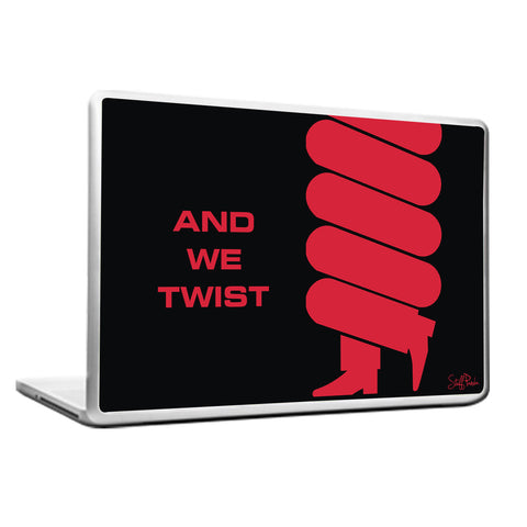 Cool Funky abstract Twist Laptop skin vinyl decals red