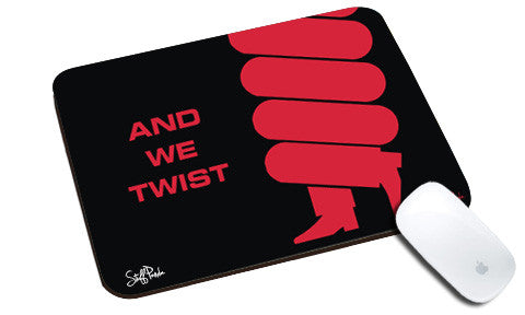 Cool design abstract Twist natural rubber mouse pad red - stuffpanda