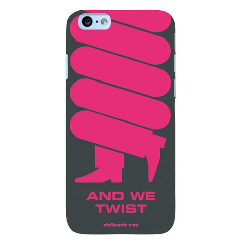 Designer Cool funky Twist Pink hard back cover / case for Iphone 6