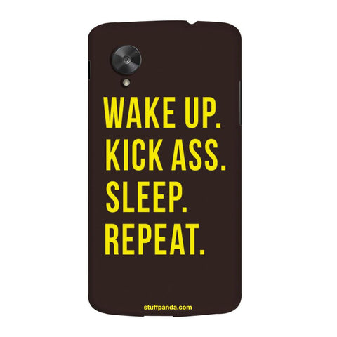 Designer Motivational Wake Up hard back cover / case for Nexus 5