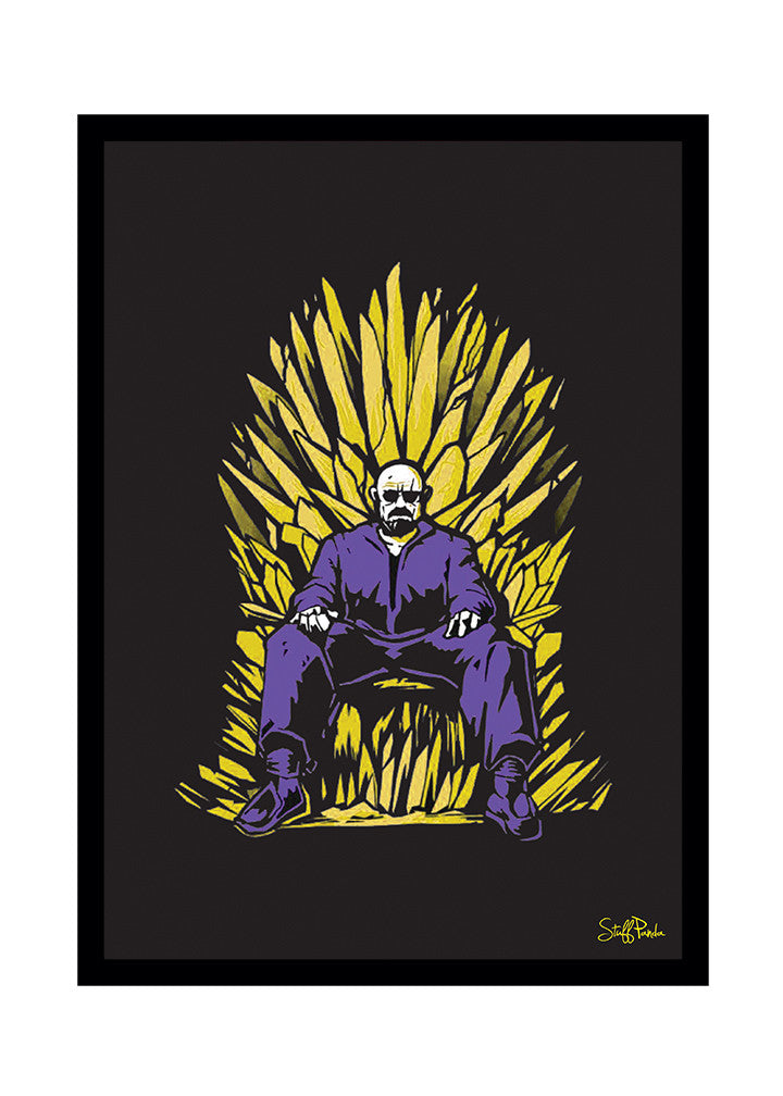 Cool Funky Breaking Bad Glass frame posters, Wall art throne - stuffpanda - 1