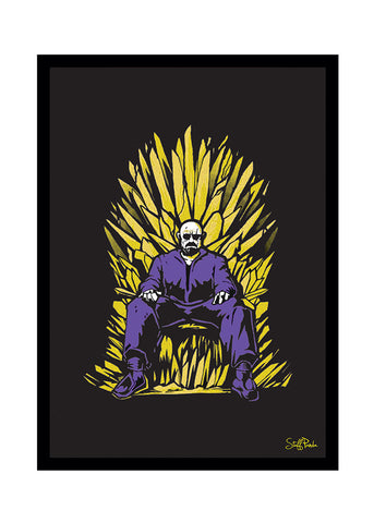 Cool Funky Breaking Bad Glass frame posters, Wall art throne