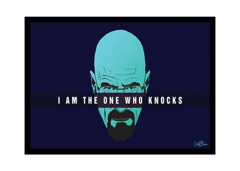 Cool Funky Breaking Bad Glass frame posters, Wall art Head