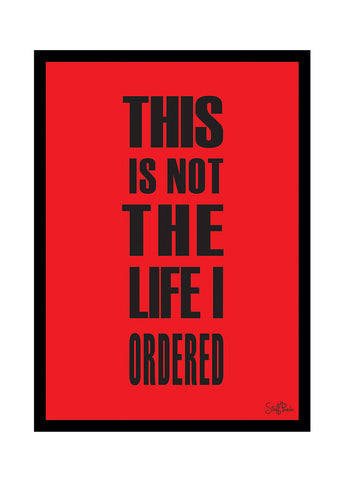 Cool Funky Funny This is NOT the Glass frame posters Wall art