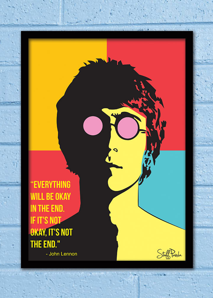 Cool Abstract Motivation Music Lennon Everything Wall Glass Frame ...