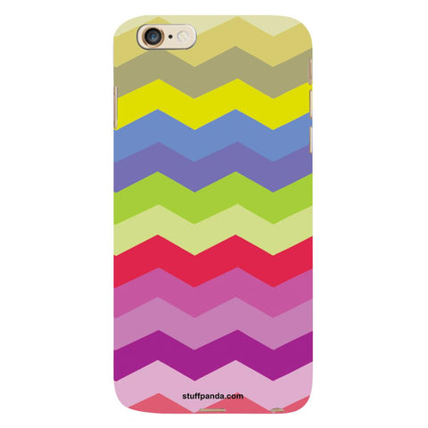 Designer Cool funky Wave Colorfull hard back cover / case for Iphone 6 plus