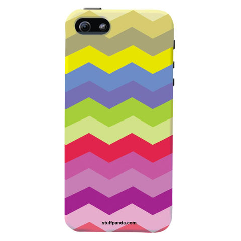 Designer Cool funky Wave Colorfull hard back cover / case for Iphone 5 / 5s