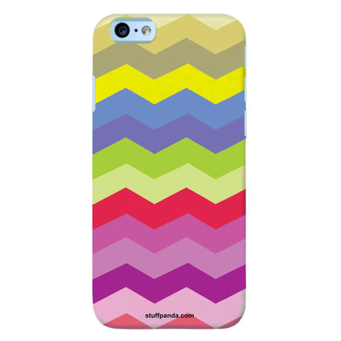 Designer Cool funky Wave Colorfull hard back cover / case for Iphone 6