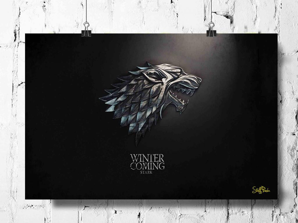 Cool Abstract Game of Thrones horse silver wall posters, art prints, stickers decals - stuffpanda - 1