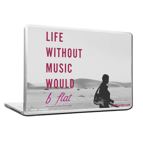 Cool Abstract Music Life Without Laptop cover skin vinyl decals