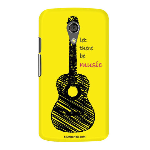 Designer Cool funky Yellow Guitar hard back cover / case for Moto G2