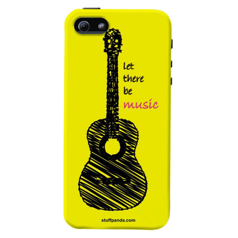 Designer Cool funky Yellow Guitar hard back cover / case for Iphone 5 / 5s