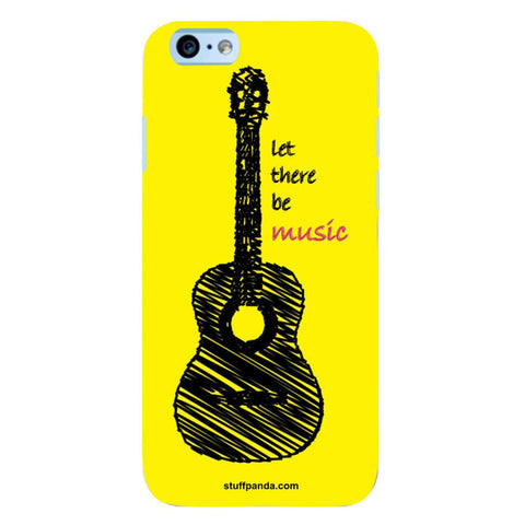 Designer Cool funky Yellow Guitar hard back cover / case for Iphone 6