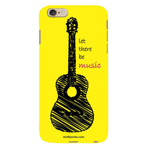 Designer Cool funky Yellow Guitar hard back cover / case for Iphone 6 plus