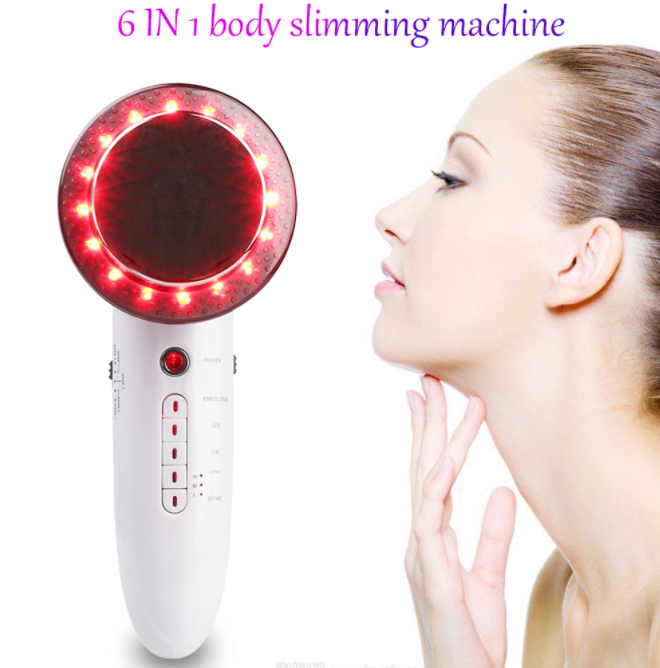 6 in 1 EMS Ultrasonic LED Cavitation Galvanic Ultrasound Thinning Body Infrared Therapy Lose Weight Fat Burn - shopix24