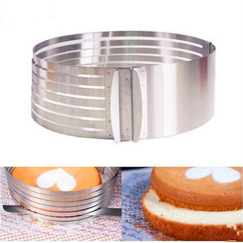 Layered Stainless Steel Adjustable Round Cake Pastry Cutter DIY Tool - shopix24