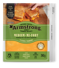 Load image into Gallery viewer, Armstrong Medium Cheddar Cheese Slices 240 g